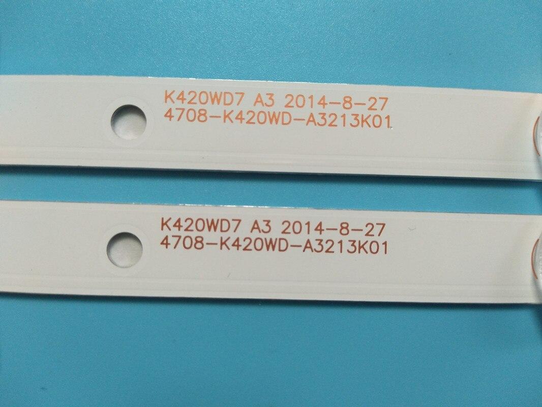 Image 3 - New 8 PCS/lot 5LED(3V) 415mm LED Backlight strip for 43PFF5459 42PUF6052 K420WD7 4708 K420WD A3213K01 K420WDB TH 43C500CComputer Cables & Connectors   -