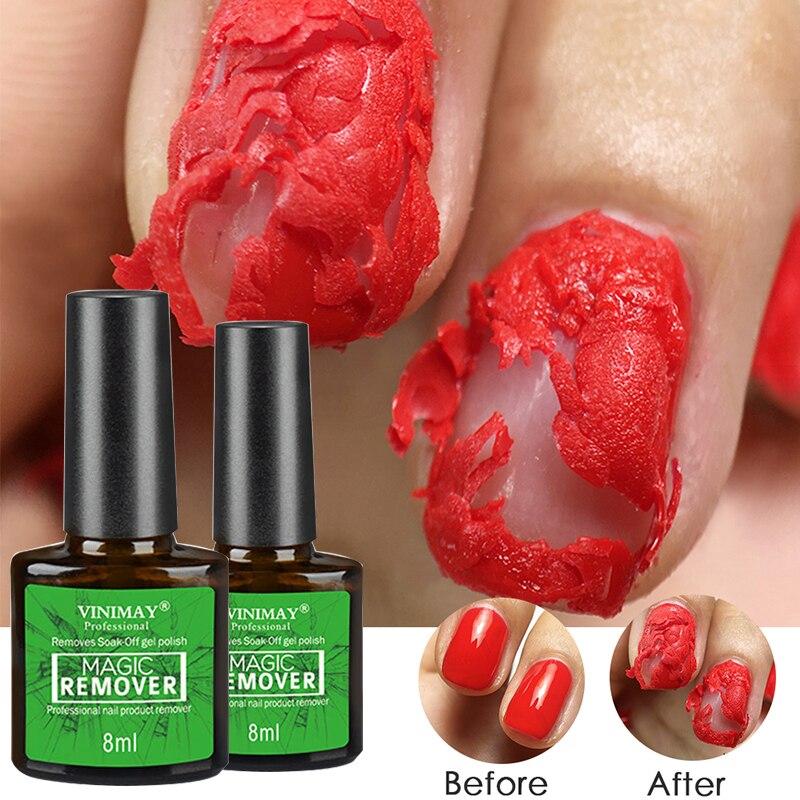 Nail polish remover Gel Nail Polish Burst Magic Remover Gel to Remove Soak Off Gel Polish Nail Solution Cleaner Gel Remover