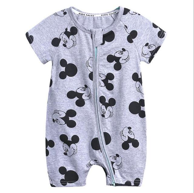 WASAILONG Newborn baby boy and girl clothes summer newborn baby cotton jumpsuit short sleeves out 0-24 months baby romper