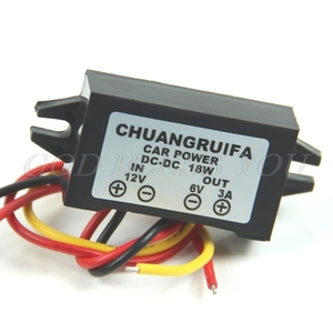 DC/DC Converter 12V Step Down To 6V 18W Max 3A Power Supply Waterproof Drop Shipping