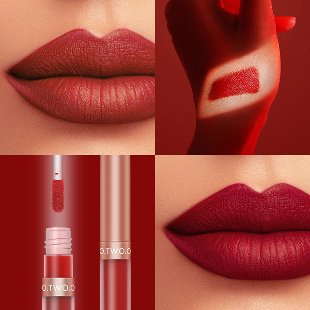 O TWO O Pigment For Lip Gloss Matte Velvet Makeup Waterpoof Long Lasting Liquid Lipstick Nude