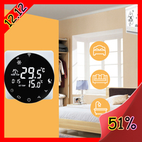 Wifi Thermostat AC EU/US Gas Boiler Heating Thermostat Remote Control Negative LCD Digital Round/Square Temperature Controller