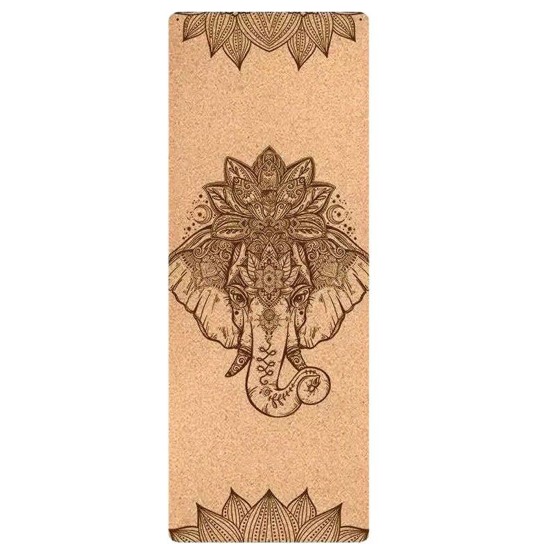 Esterilla de Yoga de corcho Natural TPE, almohadillas de entrenamiento de equilibrio adelgazante para gimnasio, Pilates, deportes, antideslizante, sin olor, 72x24 pulgadas, 4,6mm, nueva