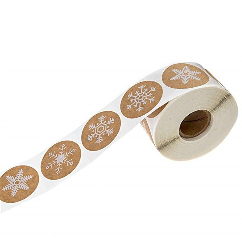 500 Pcs roll Rodada Adesivos 6 estilos