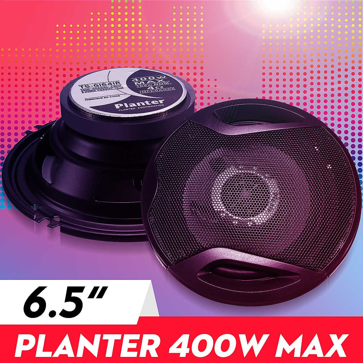 400W 6.5-Inci Mobil Audio Speaker 4-Way Coaxial Universal Stereo Magnet Eksternal High-Fidelity Mobil audio Musik Subwoofer Pasangan