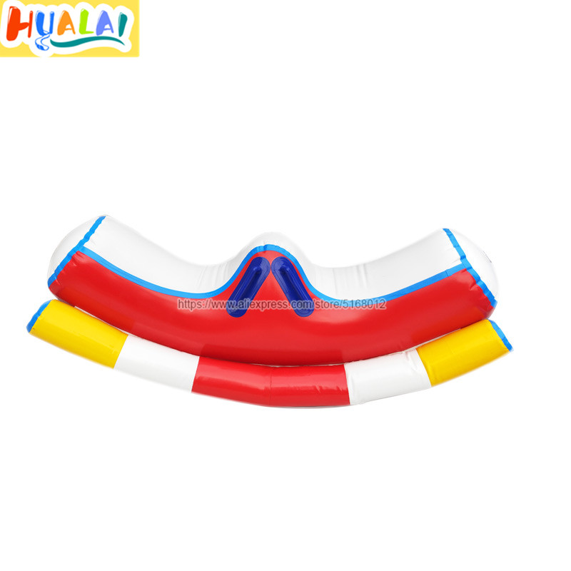 Hualai Inflatable Water Toy Water Park Games Seesaw Floating Mount Children PVC 1 Piece 1.5m Ength