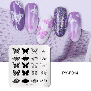 Image 4 - PICT YOU Nail Stamping Plates Flower Rectangle Stainless Steel Nail Image Stencils Stamping Template