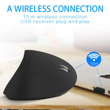 Wireless Mouse Vertical Gaming Mouse USB Computer Mice Ergonomic Desktop Upright Mouse 1600DPI for PC Laptop Office Home