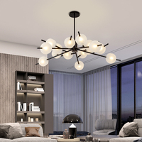 Modern Glass Chandelier Lighting Decor Tree Branch Light FIxture Nordic Chandelier Lamp Liviing Room Lustra luminaire