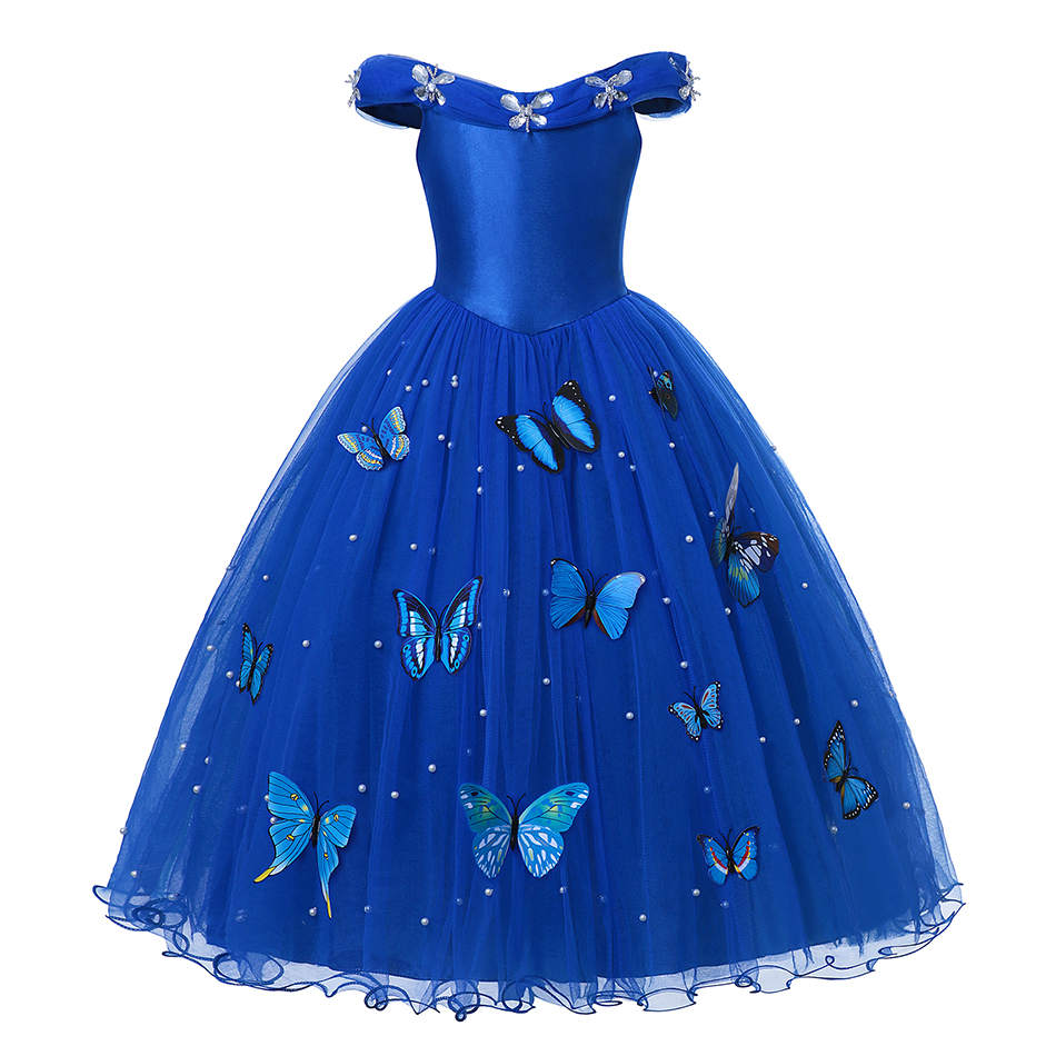 H300b69ee526e458a8d8363cfdf2ddc07D - Fancy Baby Girl Princess Clothes Kid Jasmine Rapunzel Aurora Belle Ariel Cosplay Costume Child Elsa Anna Elena Sofia Party Dress