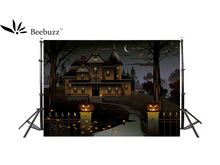 Beebuzz photo backdrop halloween haunted house cartoon background