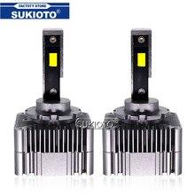 SUKIOTO 2020 New 2PCS D1S D3S LED Car Headlight D2S D4S led 90W 10000LM Super Bright White Error Free Canbus LED Auto Lamp Light
