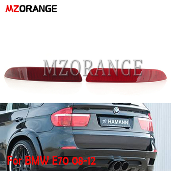 MZORANGE Rear Bumper Reflector Tail light lamp For BMW E70 X5 2008 2009 2010 2011 2012 Rear bumper light Rear Fog Lamp image