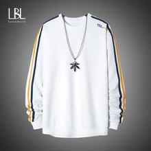 LBL Men's Stripe Sweatshirts 2021 Spring New Casual Embroidery Fleece Tracksuits Men Solid Hoodies Streetwear Mens Sweatshirts