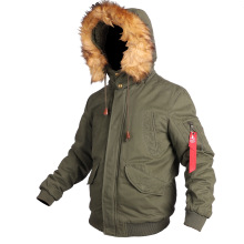 2020 New N2B Style Flight Jacket Mens Army Fur Hooded Parka Military Bomber Coat Winter Thick
