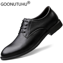 2019 new style mens dress shoes leather wedding party male lace up classics black shoe man elegant office formal for men