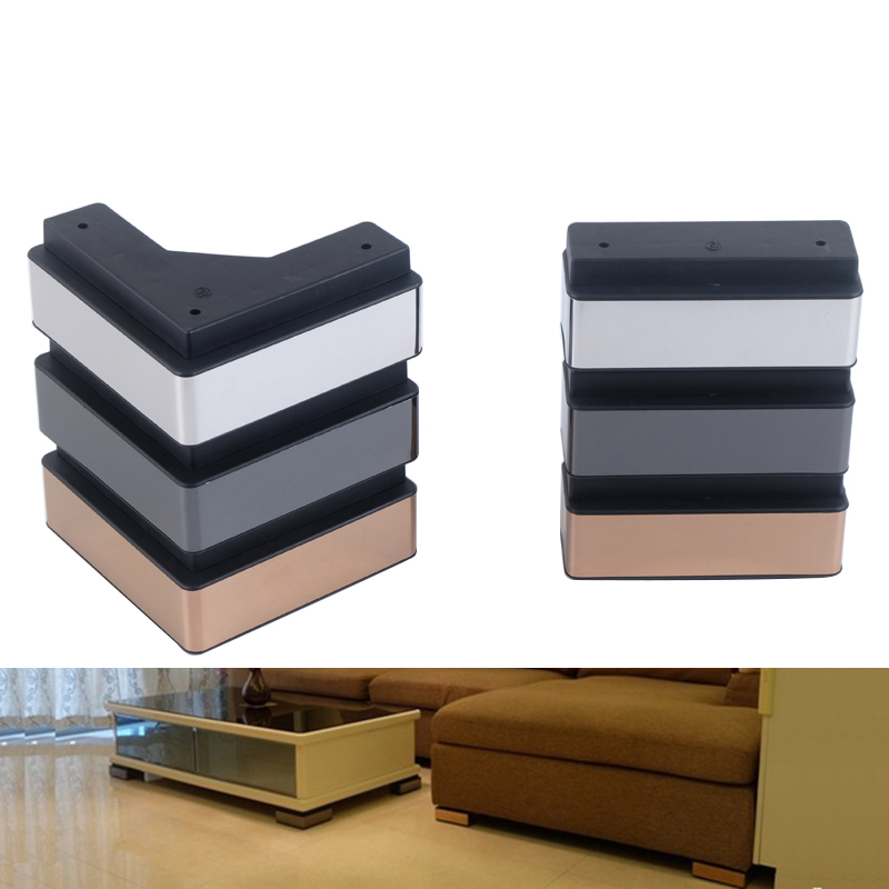 4Pcs/Set Furniture Sofa Legs ,for Coffee Table TV Cabinet  Bed Support Feet Plastic Furniture Accessories