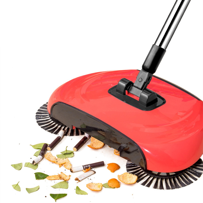 Magic Broom Dustpan Lazy Mop Spin 360 Degree Broom Sweeper No Electricity Stainless Steel Hand Push Sweepers Sweeping Machine