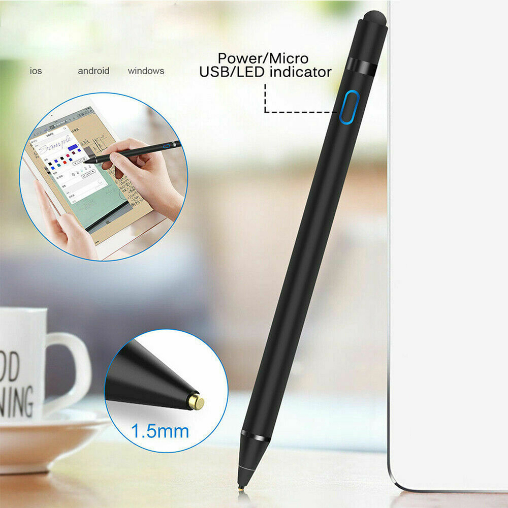 Active Stylus Pencil For Apple IPhone IPad Drawing Capacitive Touch Stylus Pen For Huawei Xiaomi Phone Samsung S8 S9 S10 Plus