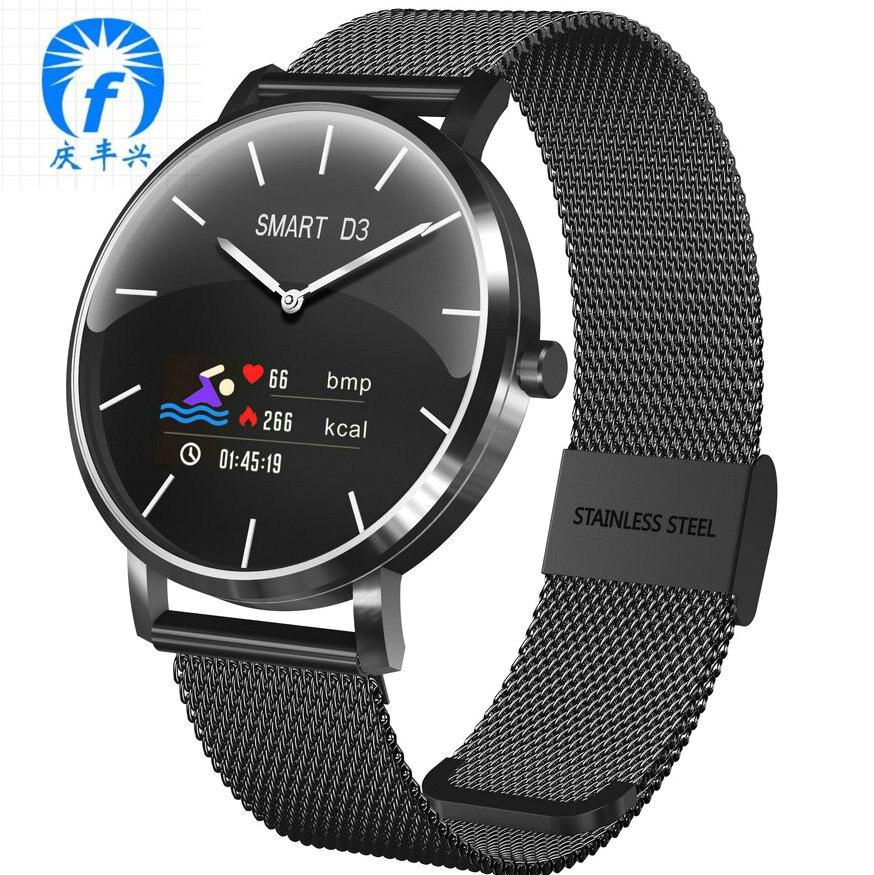 Montre intelligente IP68 montre mécanique pointeur Bluetooth Sport Fitness Tracker hommes femmes Smartwatch pour téléphone Android IOS