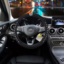Auto Lenkrad Abdeckung Skidproof Steering-rad Anti-Slip Universal Präge Leder Auto-styling