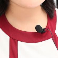 Mini microfone de estúdio de 3.5mm, portátil, discurso de estúdio, família, vlogs, youtuber com clipe para laptop de mesa, claridade superior