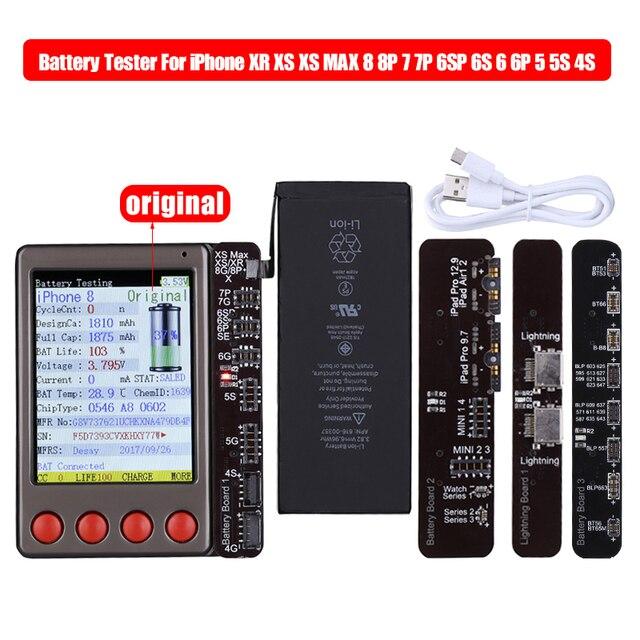 Data Kabel Tester Batterij Tester Voor iPhone XR XS XS MAX X 8 8P 7 7P 6 6S 5 4 4S Voor iPad Android Batterij Checker een Sleutel Clear
