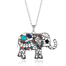 New lady elephant necklace jewelry retro personality pendant simple fashion sweater chain necklace jewelry