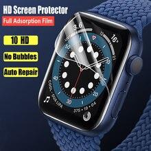 Filme hd para apple assistir protetor de tela 44mm 40mm 42mm 38mm (não vidro temperado) iwatch protetor apple assistir série 3 4 5 6 se