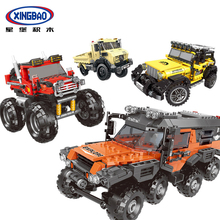 XingBao 03024 03025 03026 03027 TECHNIC Car Series Off-Road Adventure Truck Set Building Blocks Bricks Compatible Legoings Cars lepin 20057 genuine technic mechanical series ultimate extreme adventure car building blocks bricks compatible with lego 42069