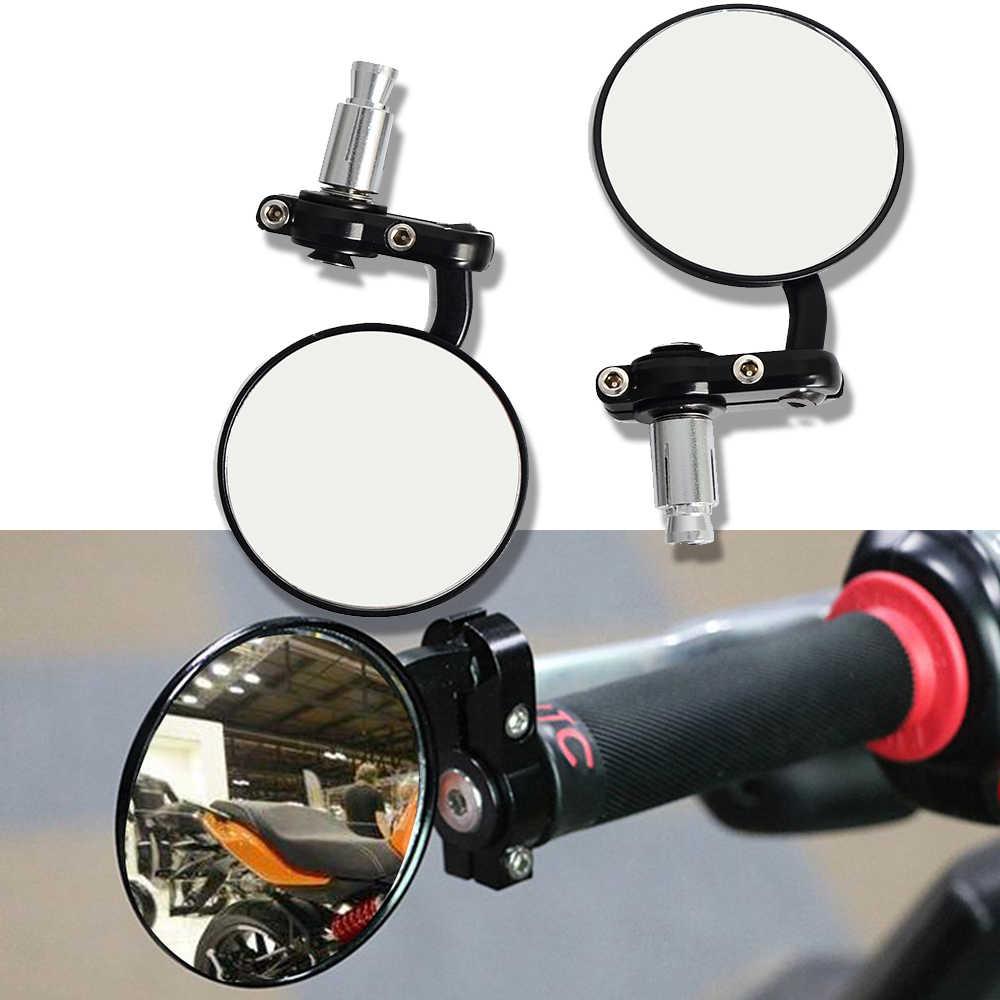 Handvat Bar End Opvouwbare Motorbike Side Spiegel voor cafe racer cafe racer yamaha mt 03 afrika twin bmw s1000r bar end spiegel