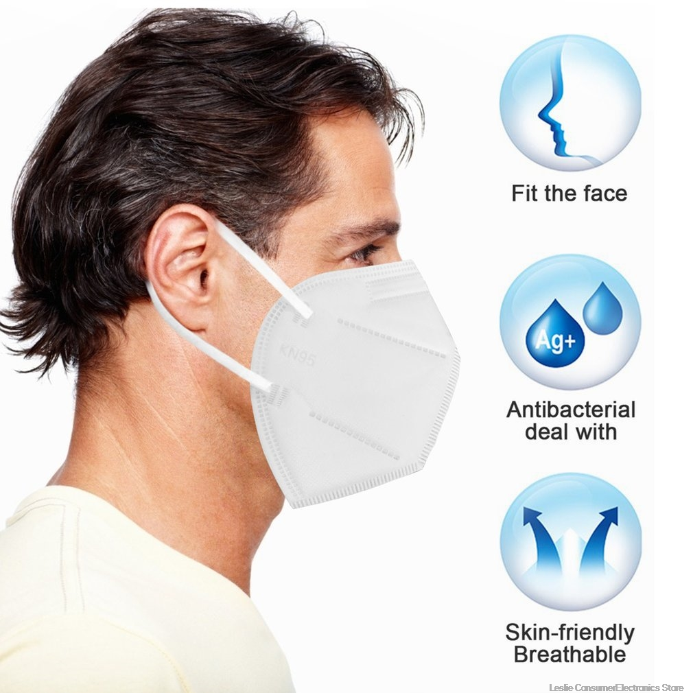 KN95 Masks Non Woven Safe Mask Anti-dust Filtration Sanitary Masks Anti-pollution
