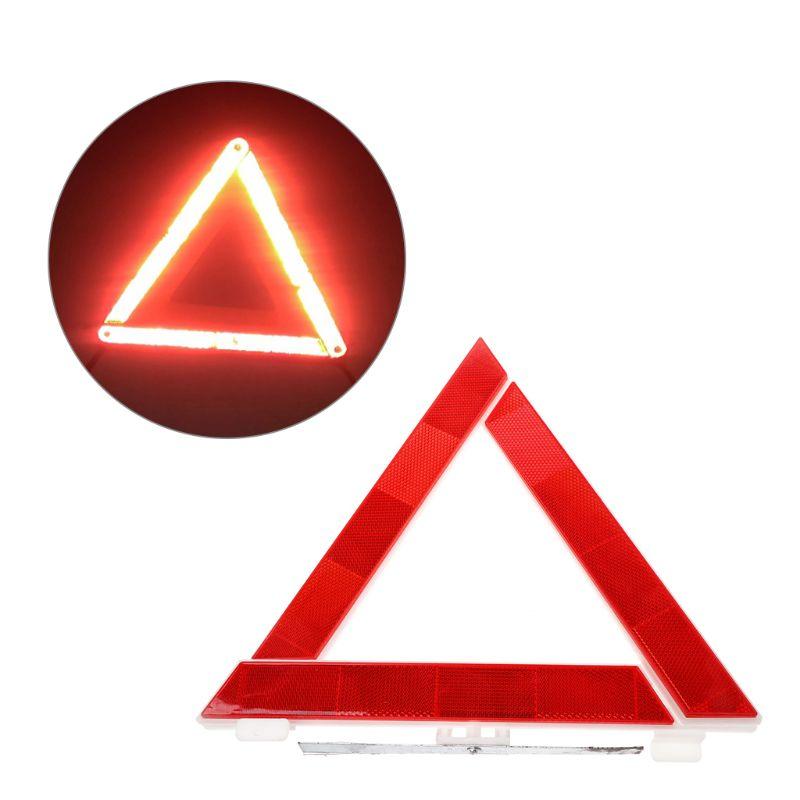 Car Emergency Breakdown Triangle Reflective Safety Hazard Red Warning Sign G2AC