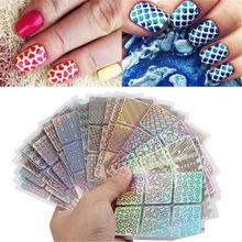 Mulheres Etiqueta Do Prego Menina Gel Extensão Prego Oco Projeto Decal Manicure Decoração Art 6 /12/24 Pcs set