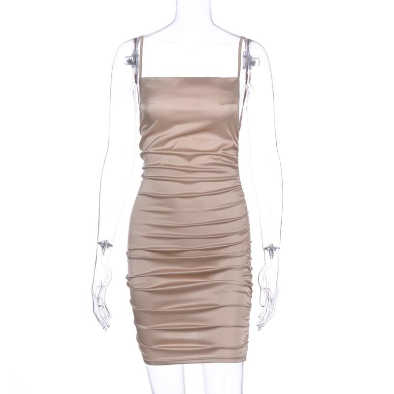 ruched sexy mini vestido feminino espaguete cinta