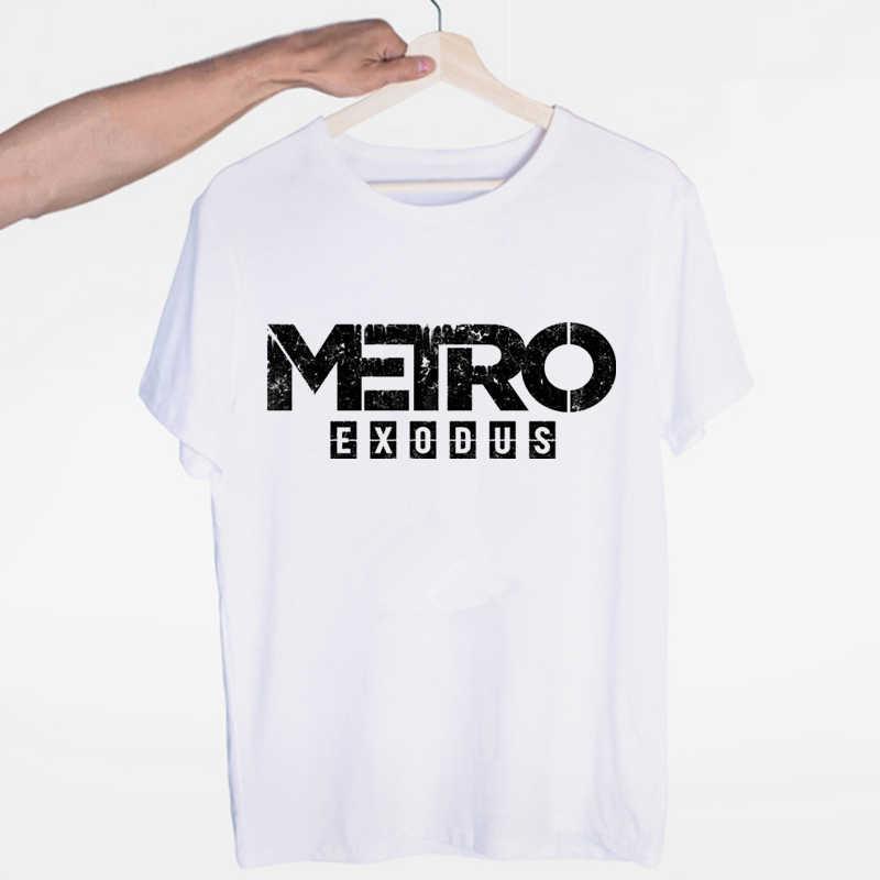 ใหม่ล่าสุดเสื้อยืด Metro Exodus เสื้อยืดแฟชั่นผู้ชาย Harajuku เสื้อยืดผู้หญิงลำลอง Metro Exodus เสื้อยืด