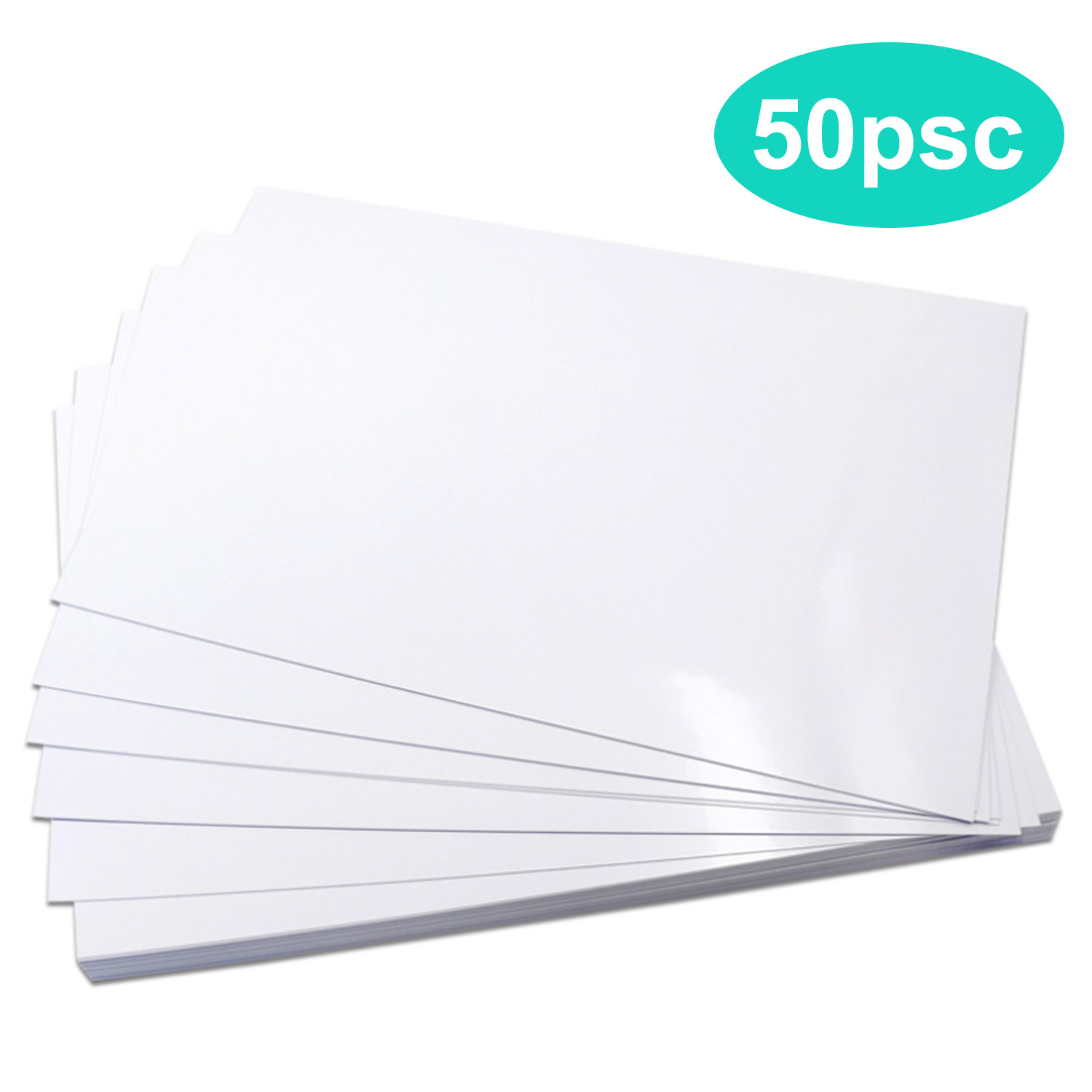 50 Sheets A4 Size 180g High Glossy Photo Papers For Menu Poster Photo Resume Magazine Cover Supporting Double-sided Printing