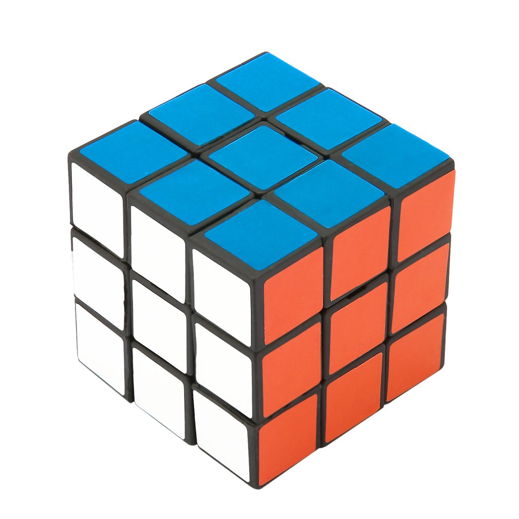 Hot 53mm Classic Magic Cube 3x3x3 PVC Sticker Block Speed Professional Magic Cube Colorful Learning&Educational Puzzle Cube Toy