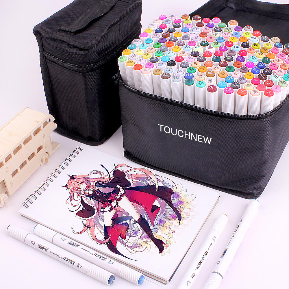 Drawing-Pen-Set Brush-Pens Sketching-Markers Manga Dual-Tip Touchnew-T8 School with