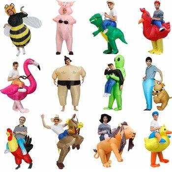 インフレータブル衣装恐竜フラミンゴ馬コスプレハロウィン衣装アヒルのコック祭マスコットパーティのロールプレイdisfraz大人