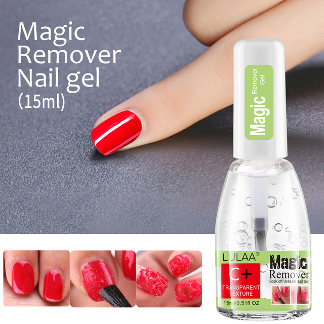 Gel Nail Magic Remover 15ml Nail Gel Remover Gel Soak Off Polish for Fast Healthy Nail Cleaner Gel  Nail Remover 3