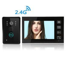 7 Inch Wireless Video Doorbell Villa Video Door Intercom Equipment Remote Open Electronic Lock Built-in Battery
