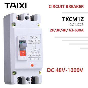 DC Circuit Breaker mccb 2P 3 4 poles 100V 250V 500V 750V 800V 1000V Voltage 100A 160A 200A 250A 400A 630A PV Solar Protector new lv429573 circuit breaker compact nsx100b tmd 50a 4 poles 4d