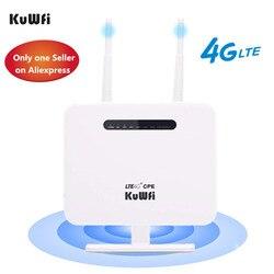 Kuwfi 4G Router Sim Kaart 300 Mbps Unlocked 4G Cpe Draadloze Router 150 Mbps CAT4 Mobiele Wifi Hotspot met Sim Card Slot 4 Lan Poorten