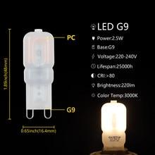 Super Bright G9 2.5W with PC Cover 230V SMD2835 14pcs Led Lamp Mini Light for Decorative lamp