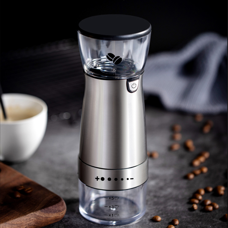 Electric Coffee Grinder Rechargeable Ceramic Burr Coarseness 70g Adjustable 4 Grind Settings Suitable For Kinds Of Brew Method