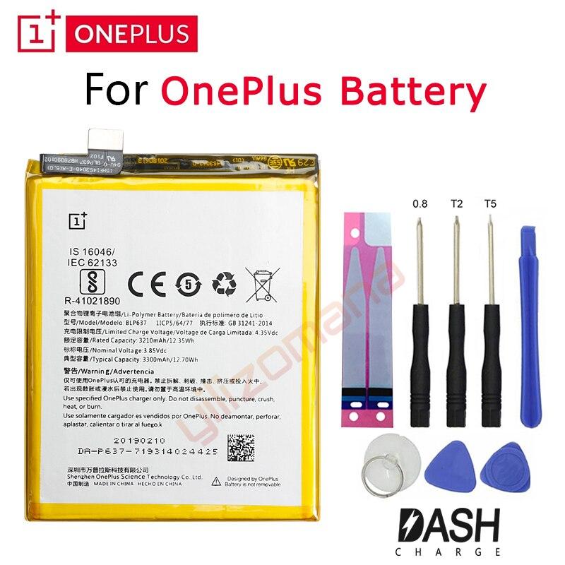 Bateria de Substituição Para OnePlus ONE PLUS Original 5 5T 3 3T 2 1 1 + BLP571 BLP597 BLP613 BLP633 BLP637 Pacote de Varejo Ferramentas Gratuitas