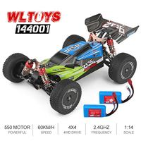 1:14 RC car Wltoys 144001 Remote Control Car High Speed Crawler 2.4G 4WD 60km/h Drifting RC Car Vehicle Models with 2 Batteries