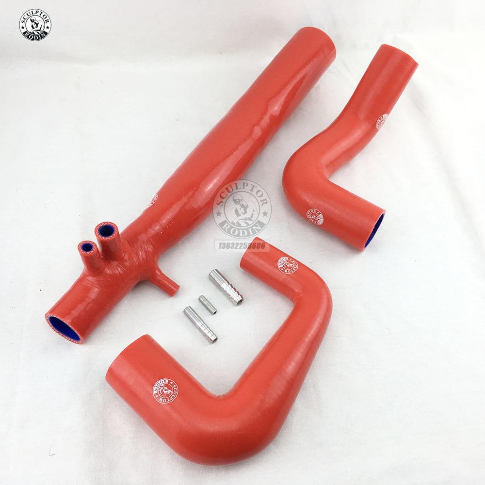 Силиконовый радиатор индукционный шланг Труба для двух& turbo SMART Roadster 2003-2006(3 шт) красный/синий/черный