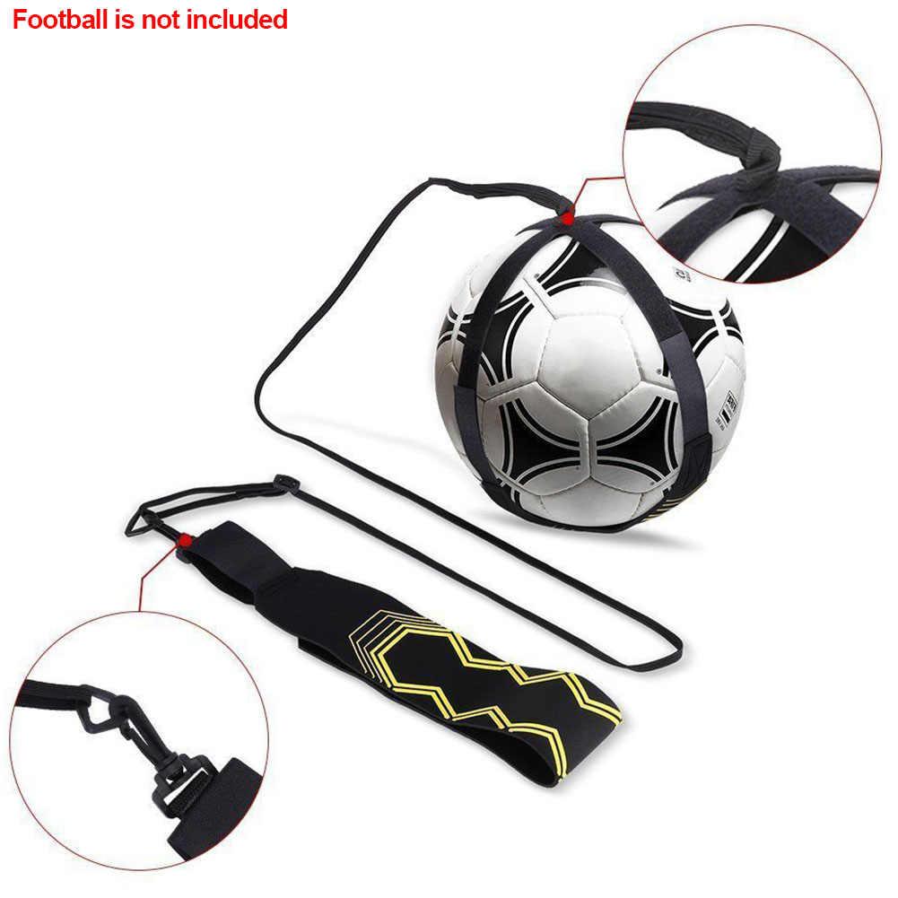Football Strap Kick Ball Returner Soccer Trainer Training Aid Adjustable Tool